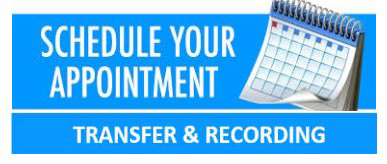 graphic of calendar on banner for Transfer and Recording Appointment